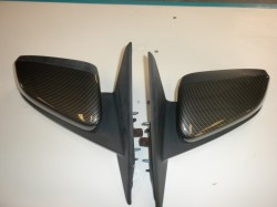 Fits 2010-14 Shelby GT500 Outside Mirror Covers Hydro Carbon Fiber With Part Included